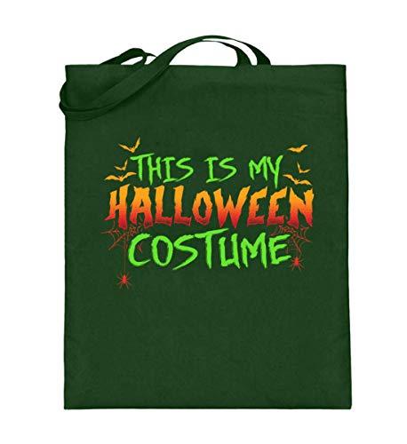 Das Ist Mein Halloween Kostüm Costume Lustiges Boo Gruseliges Spinnen Fledermaus T-shirt - Jutebeutel (mit langen Henkeln)