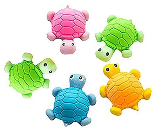 5x Eraser Radiergummi Schildkröte-Form Radierer Schulbedarf Schmutzradierer Briefpapier (Zufällige Farbe) (Eraser Reinigungsschwamm)