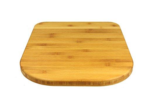 StreamBrush® Premium - Gleitbrett Holz-Gleiter Untersetzer aus Massivholz für den Thermomix TM5 / TM31 Bambus SE