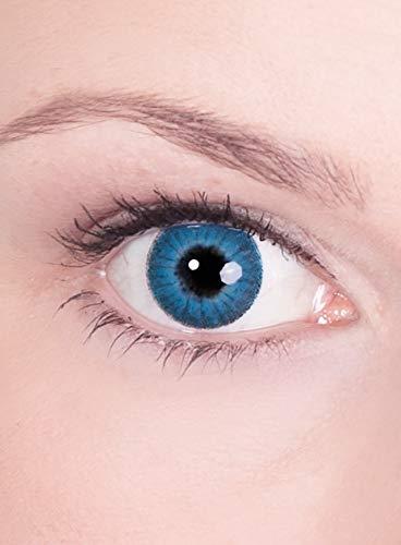 Blaue Engel Kontaktlinsen / Monatslinsen - Motivlinsen ohne Sehstärke - Unisex - Erwachsene - ideal für Halloween, Karneval, Motto- und Horror-Party