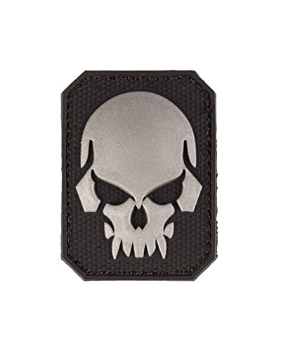 Patch 3D Skull PVC m. Klett small - Klett Jacke Patch