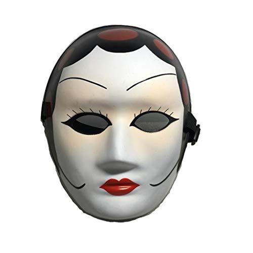 P-WH Schöne Frauen Phantasie Halloween Gesichtsmaske, Kostüm Prop Karneval Party Cosplay, Einstellbar