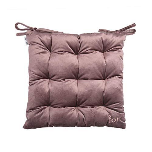 Baumwoll-wohnzimmer-stuhl (Passionate Truthahn Samt Stuhl Sitzkissen mit Krawatten Platz dicken Kissen Perle Baumwolle Füllung für Esszimmer Wohnzimmer Bürostuhl 38x38cm, cfrd, 38x38cm)
