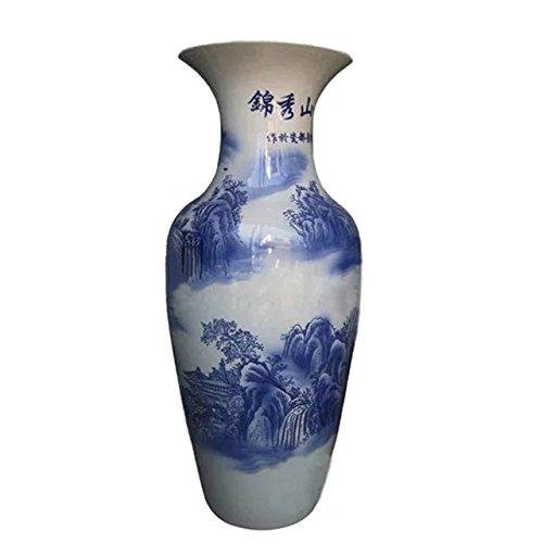 waist-drum-type-floor-vase-of-underglaze-teenchoy-and-white-glazed-porcelain-clouds-sea-temple-wonde