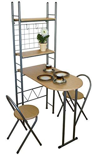 KMH® Praktisches Küchenset mit einklappbarem Tisch - 2
