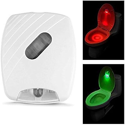 Sensor de movimiento LED inodoro luz de noche, kingcenton funciona con pilas ahorro de energía lámpara de asiento de inodoro, inodoro Motion Sensor luz para baño Potty Training 8colores