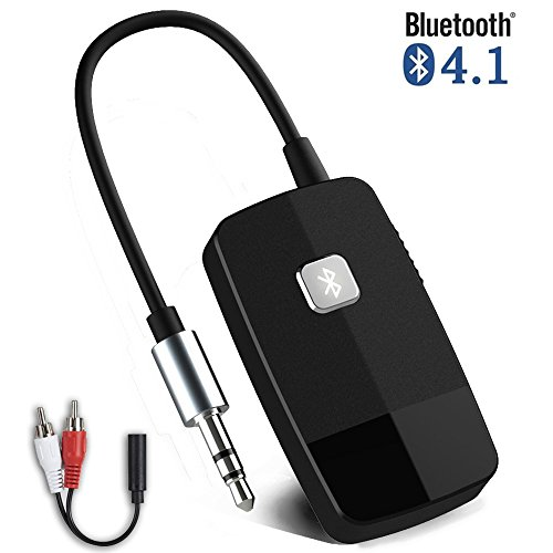 Giveet V4.1 Audio-Empfänger Wireless Portable Bluetooth-Adapter, mit 3,5mm Aux-Ausgang für Home Stereo Hi-Fi Musik Streaming Car Audio System Kabelgebundene Kopfhörer & Lautsprecher (Nicht Portable Audio-receiver