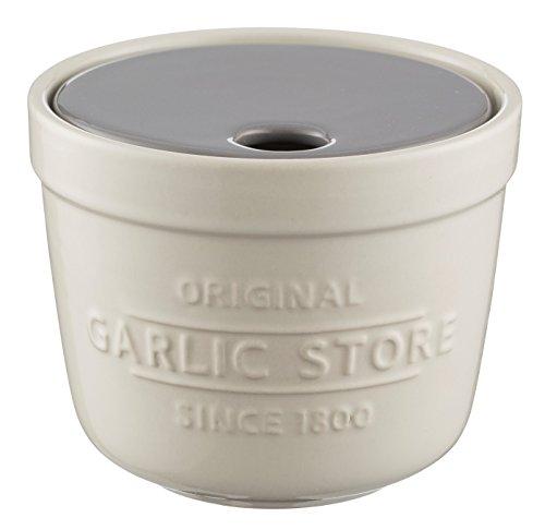 Mason Cash-Innovador Cocina ajo Store y rallador, cerámica, Blanco, 12,5x 12,5x 10cm