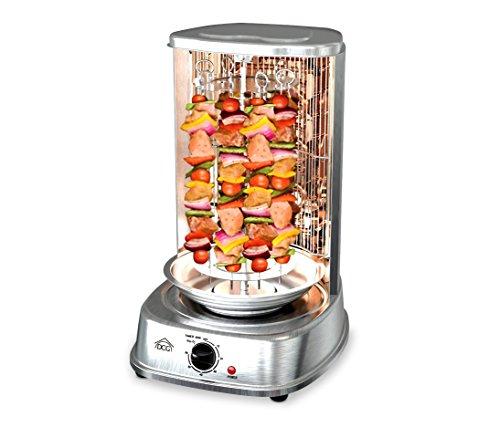 MB1022 Horno eléctrico 1200W vertical DCG para kebab pollo brochetas pinchos