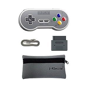 8Bitdo SF30 Retro Bluetooth Controller Gamepad,Bluetooth Empfänger Adapter Set Mit Mcbazel Aufbewahrungstasche -SF…