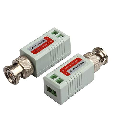 WEIWEITOE Gemeinsame Anti-Interferenz Einzel 1-Kanal-Passiv-Video-Transceiver BNC-Anschluss Koaxial-Adapter für Balun CCTV-Kamera DVR BNC UTP schwarz Utp-transceiver-hub