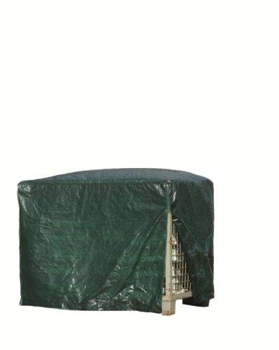 Rain Exo RX120-GIB-R/G Gitterbox-Abdeckhaube 125 x 85 x 98 cm, 120 g/m² mit Reißverschluss, grün