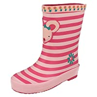 Clarks Girls Mouse Design Wellington Boots Tarri Candy