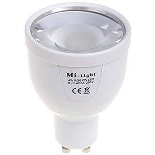 2,4GHZ RF RGBW+W Kalt Weiß LED Lampe GU10 4W 220V Kabellose Steuerung per Mi-Light Fernbedieung von iPad iPhone Andorid Smartphone Tablet Samsung HTC