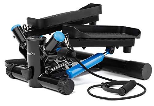 Elitum Swing Stepper NX-300, Fitness Hometrainer mit Zugbändern, für Büro und Zuhause, Auf-, Ab- und Seitwärtsbewegungen
