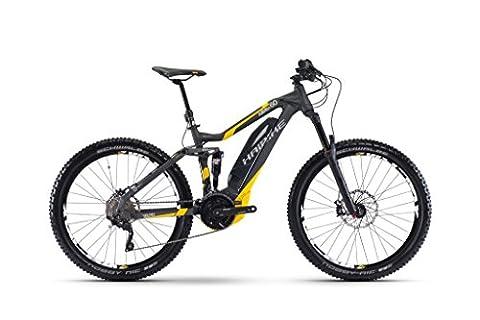 Haibike SDURO AllMtn 6.0 500Wh Elektro Fahrrad/27.5R All Mountain eBike 2017 (Anthrazit/Gelb/Grau matt, 48)