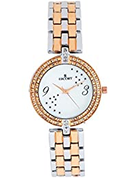 Escort Analog White Dial Women's Watch- 3087 RTM