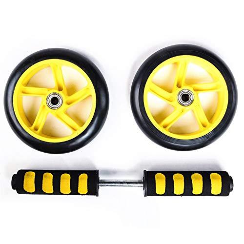 Lisansang Ab Roller-Rad-Übungsgerät Bauchübung Ab-Rad-Rolle mit Schaumstoffgriffen Große Griff-Doppelräder-Qualität Ab-Rad-Übungsgerät, Ab-Rad-Roller für Heimtrainer,