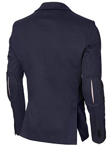 MODERNO - Slim Fit Veste Homme Blazer (MOD14517B) Bleu Fonce