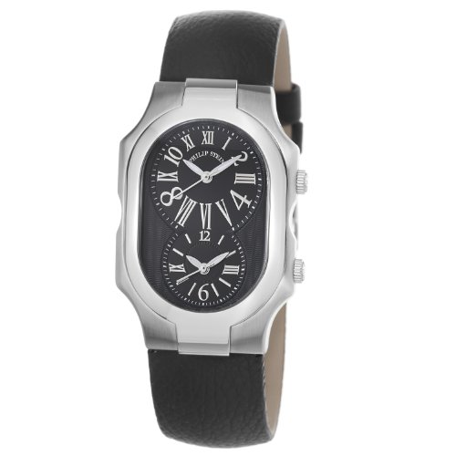 Philip Stein Women's 2-MB-CB Signature Black Calfskin Leather Strap Watch