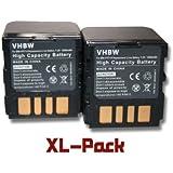 vhbw set de 2 batteries 1200mAh (7.2V) pour caméscope JVC comme BN-VF714, BN-VF714U, BN-VF707, BN-VF707U, BN-VF733, BN-VF733U.