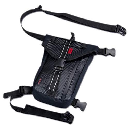 ZRDY Männer Oxford Bein Tasche Drop Taille Gürtel Hip Bum Reise Motorrad Handy Fall Abdeckung wasserdichte Packung Geldbörse (Color : Black A) -