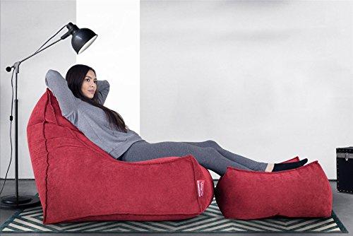 Lounge Pug®, Escabel Gigante, Tejido de Rejilla - Rojo
