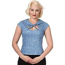 Blusa top tipo camisa de Banned modelo Sweet Talker (Azul)
