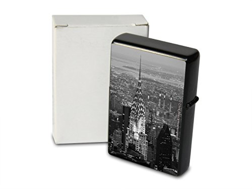 pocket-windproof-lighter-brushed-oil-refillable-chrysler-building-ny