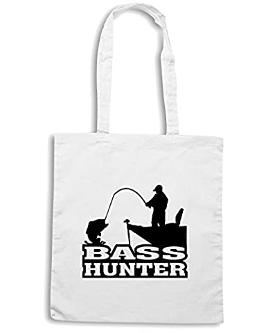 Cotton Island - Sac shopping FUN0711 bass hunter vinyl fishing car decal 93652, Taille Capacita 10 litri