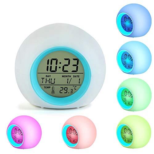 Reloj despertador LED para niños