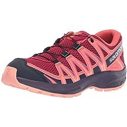 Salomon XA Pro 3D J, Zapatillas de Deporte Unisex Niños, Rojo/Naranja (Cerise/Dubarry/Peach Amber), 38 EU