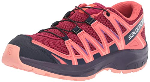 check out 205cf 0a1db Salomon XA Pro 3D J, Chaussures de Trail Running, Mixte Enfant Rouge (Cerise