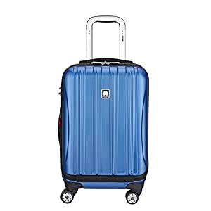 Delsey Luggage Aero Textured International Carry-on, Blue
