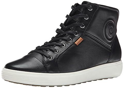 Ecco ECCO SOFT 7, Damen Hohe Sneakers, Schwarz (BLACK01001), 41 EU (7.5 Damen UK)