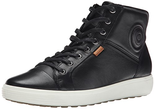Ecco Damen SOFT 7 LADIES High-Top Schwarz (BLACK 1001) 40 EU