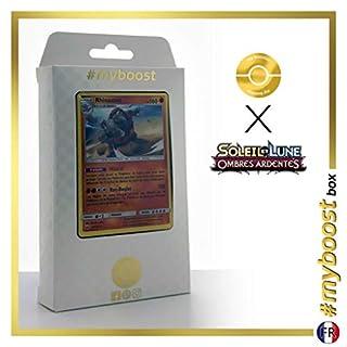Rhinastoc (Rihornior) 67/147 Holo - #myboost X Soleil & Lune 3 Ombres Ardentes - Box mit 10 Franzosische Pokémon-Karten