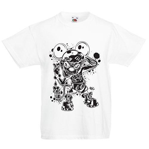 lepni.me Kinder Jungen/Mädchen T-Shirt Eine Maus mit Einem tollen Halloween-Party-Kostüm (3-4 Years Weiß Mehrfarben)