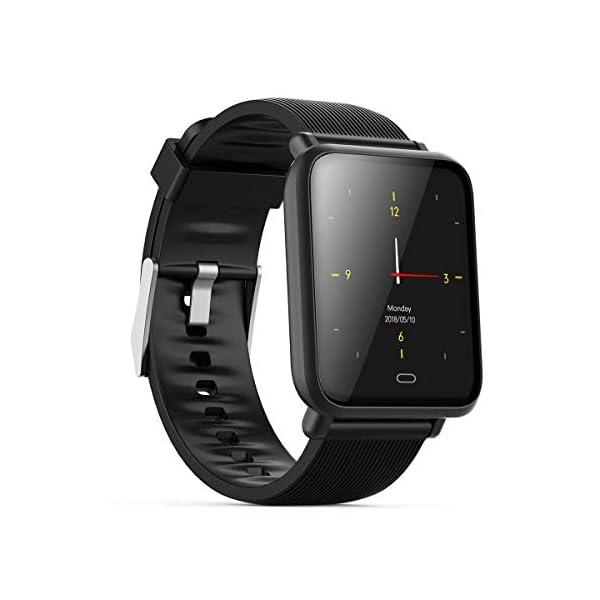 Monitor de frecuencia cardíaca TEEPAO, reloj inteligente a prueba de agua con monitor de presión arterial, contador de… 1