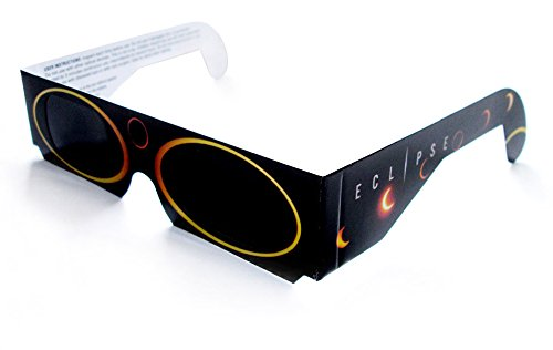 5 Stück sichere Sonnenfinsternisbrillen (SOFI-Brille) ... Brillen zur Beobachtung von totaler und partieller Sonnenfinsternis, Planetenpassage bzw. Transit (mit hochwertiger Schutzfolie)