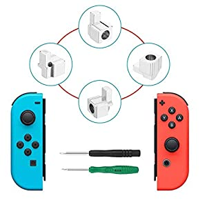 Metal Lock Buckles Repair Tool Kit mit Schraubendreher, Yoelike Left und Right Joy-Con Ersatzteile für Nintendo Switch NS Joy Con