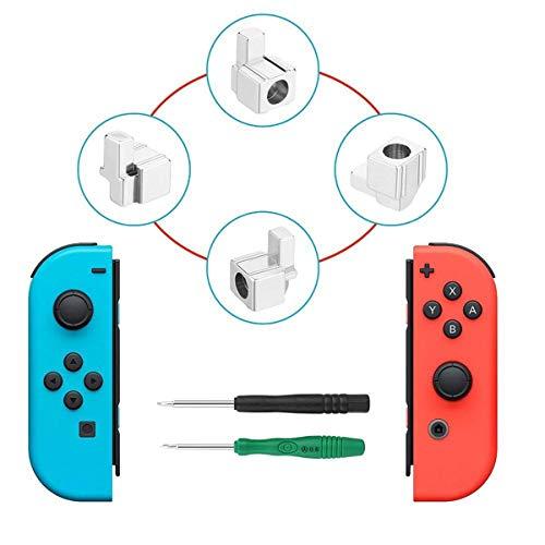 Metal Lock Buckles Repair Tool Kit mit Schraubendreher, Yoelike Left und Right Joy-Con Ersatzteile für Nintendo Switch NS Joy Con
