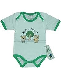 Fairtrade Body Bären grün Bio Baumwolle Gr.62/68