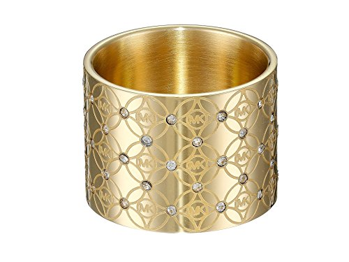 Michael Kors Logo Kollektion Monogram Ring Gold-Ton MKJ4288710 Größe 8