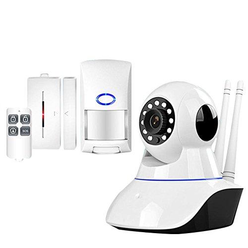 feiledi Trade IPC6 Netzwerk + WFIFI Videoüberwachung Alarm Unterstützung Wireless 433 Transmission Alarmanlagen Security WiFi IP Kamera Sicherheitssystem mit Sensor Alarm