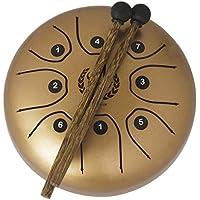 perfk 1 Pieaza Tambor de Lengua Pieza de Repuestos para Bajos Aficionados Duradera Exquisita Diseño Ajustable - Dorado, como se describe