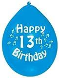 Amscan 22.8 cm  13. Geburtstag 10 Luftballons