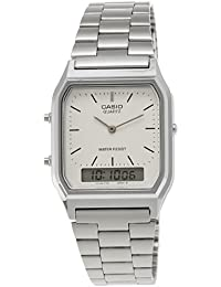 Casio Collection – Unisex-Armbanduhr mit Analog/Digital-Display und Edelstahlarmband – AQ-230A-7DMQYES