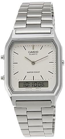 Casio Collection – Unisex-Armbanduhr mit Analog/Digital-Display und Edelstahlarmband – AQ-230A-7DMQYES