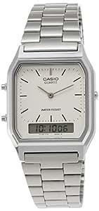Casio Unisex Analog/Digital Quarz mit Edelstahl Armbanduhr AQ230A7DMQYES